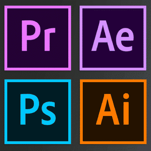 Premiere Pro, After Effects, Photoshop, dan Illustrator