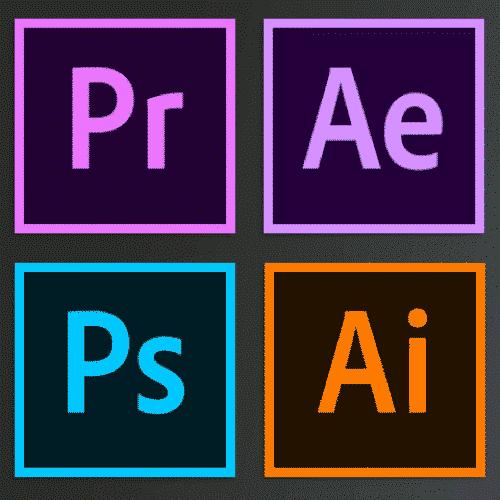 Premiere Pro, After Effects, Photoshop, dan Illustrator